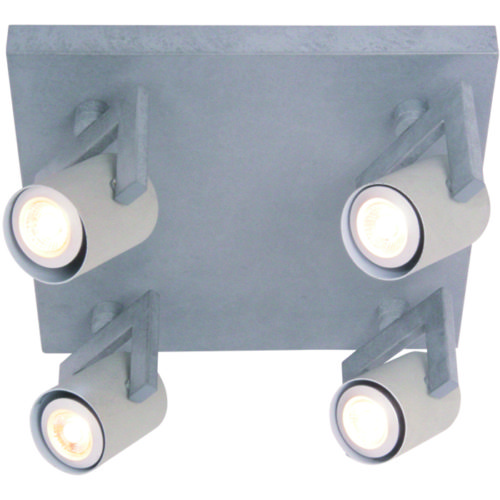 Industriële plafondlamp met vier verstelbare spots