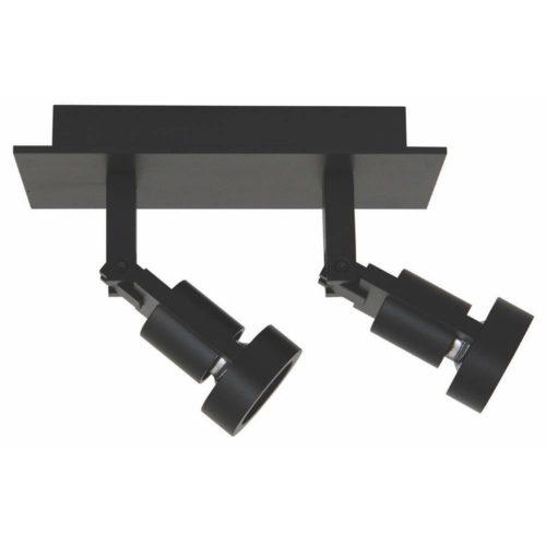 Technische plafondlamp met twee spots