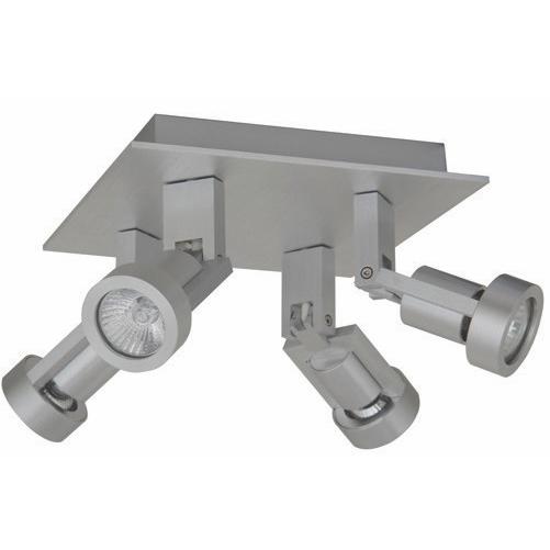 Technische plafondlamp met vier verstelbare spots