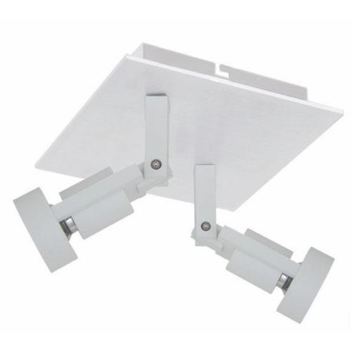 Technische plafondlamp met twee verstelbare spots