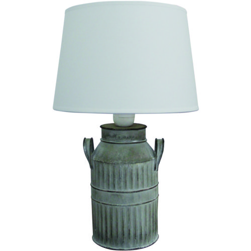 Tafellamp 'Latte' klein Grijs incl. creme kap FREELIGHT - T 5725 G
