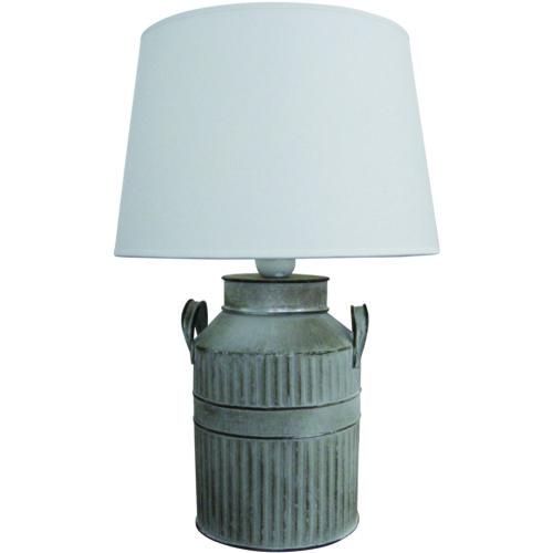 Tafellamp 'Latte' groot Grijs incl. creme kap FREELIGHT - T 5730 G