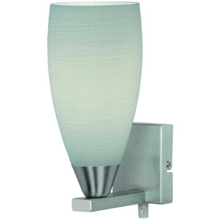 Wandlamp 'Valenso' Staal met wit glas FREELIGHT - W 9522 S
