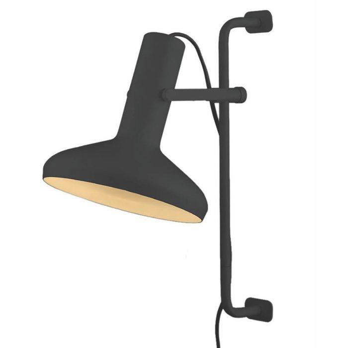 "Wandlamp zwart 1-lichts ""Vectro"" Ø22cm 22cm hoogte"