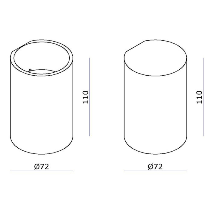 badkamerlamp (zone 2 en 3) en buitenlamp (plensbui)