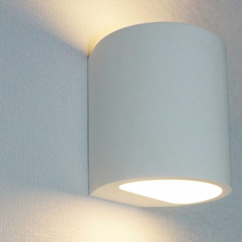 "Wandlamp gips 1-lichts ""Plaster"" rond 10"