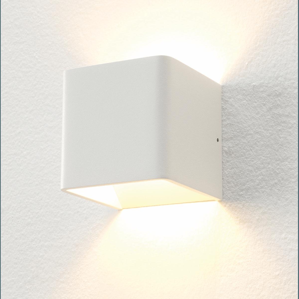 "Wandlamp wit 1-lichts ""Fulda"" 10x10x10cm LED 6W 2700K 500lm"
