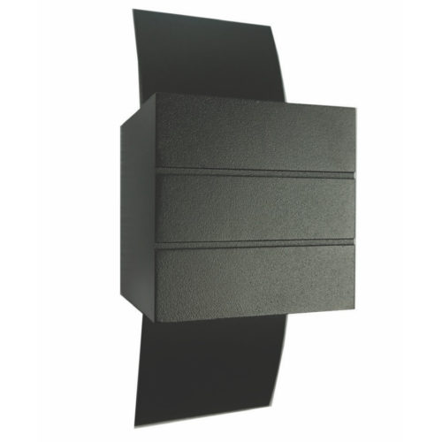 "Wandlamp zwart 1-lichts ""gyhum"" 20cm hoogte"
