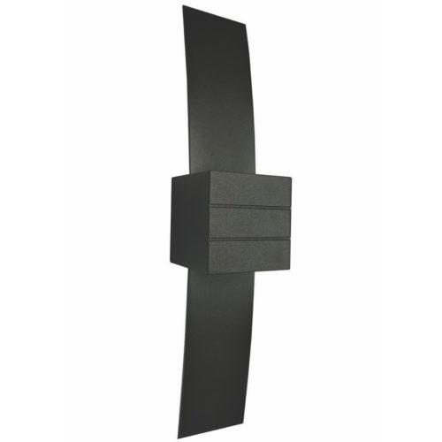 """Wandlamp zwart 1-lichts """"GyhumII"""" 40cm hoogte"""