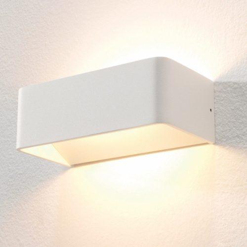 "Wandlamp wit 2-lichts ""Mainz"" 20cm breedte"