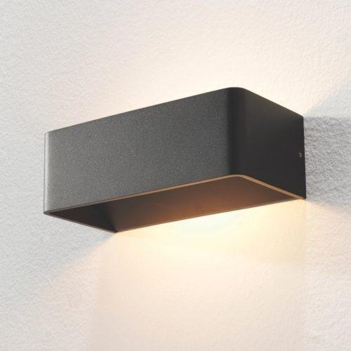 """Wandlamp zwart 2-lichts """"Mainz"""" 20cm breedte"""