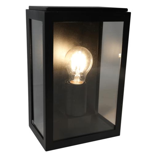Wandlamp zwart 1-lichts buitenlamp
