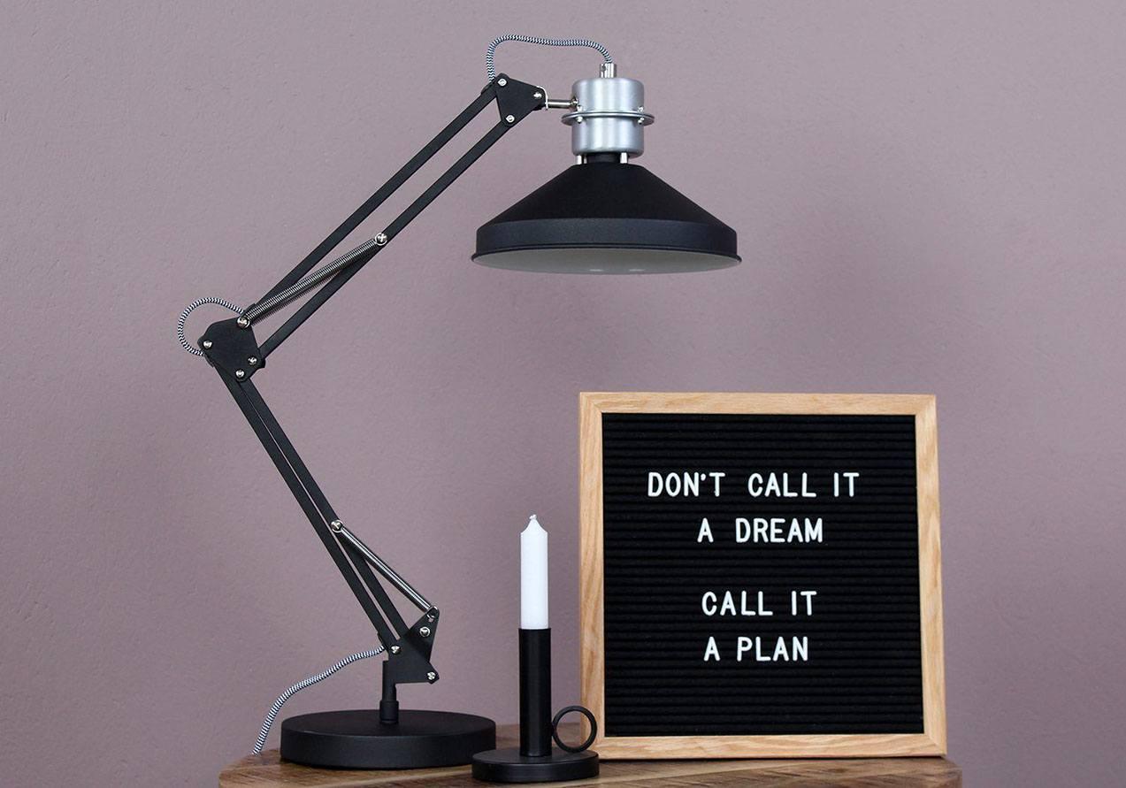 Industriële bureaulamp, industrie leeslamp van Steinhauer.