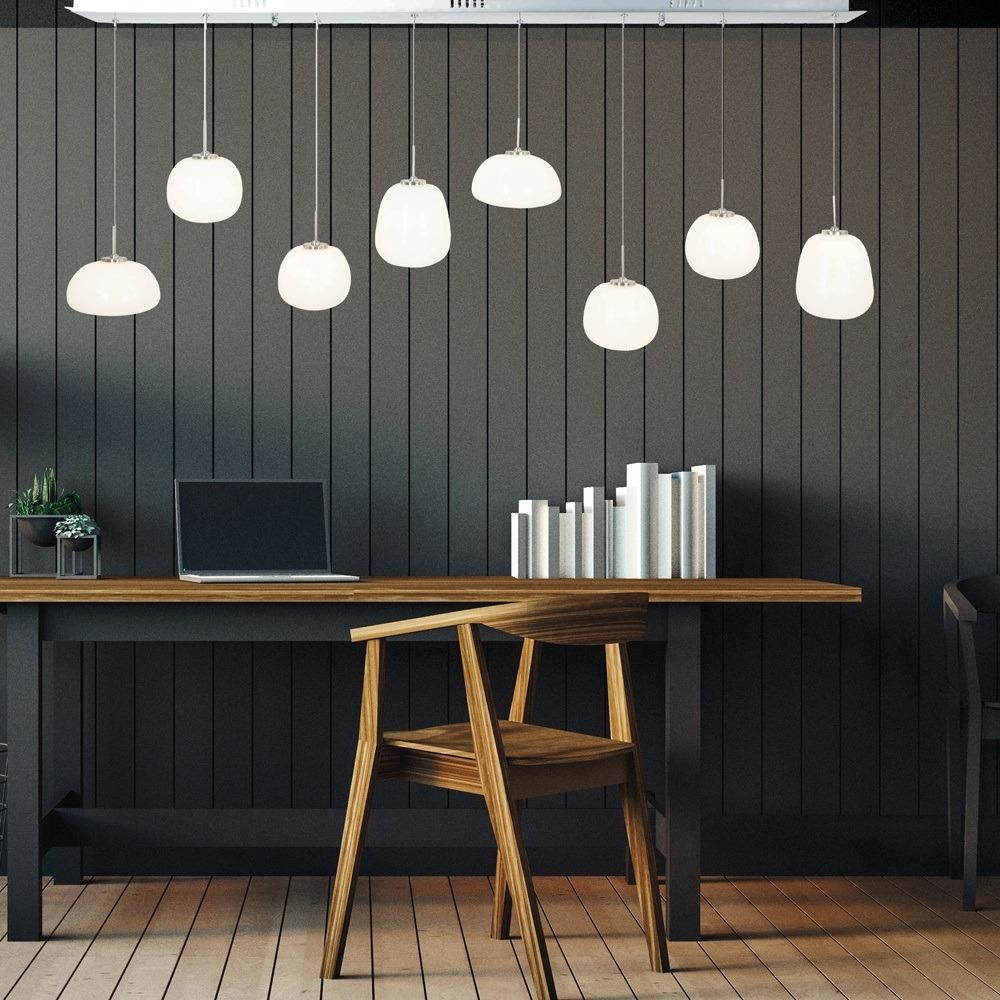 Prachtige hanglamp met diverse glas lampen van Steinhauer, bij Webo Verlichting in Beuningen bij Nijmegen.
