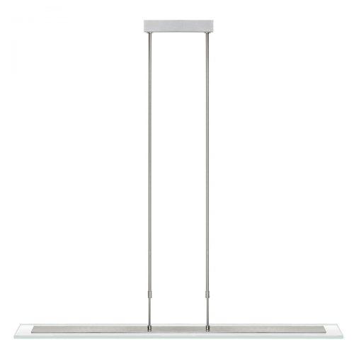 Hanglamp LED plaat helder 1 Meter 8x2W 2700K RVS + dimmer