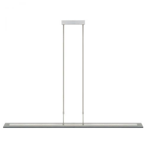 Hanglamp LED plaat zwart 1.2 Meter 10x2W 2700K RVS + dimmer