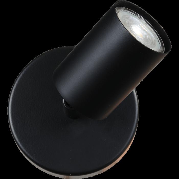 Bounce zwart/zwart 1-lichts Ø10