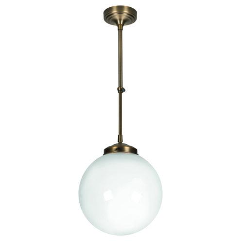 Glas Globe 25cm. Opaal