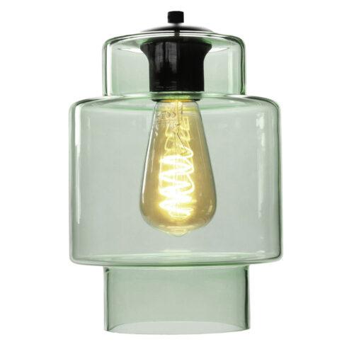 Glas Fantasy Moderno. Los glas licht groen. Dit glas is geschikt voor een E27 fitting. In de glas serie van HIGH LIGHT bevinden zich diverse vormen van dit licht roze glas. Qua tinten heeft u de keuze per variant uit Smoke (transparant zwart)
