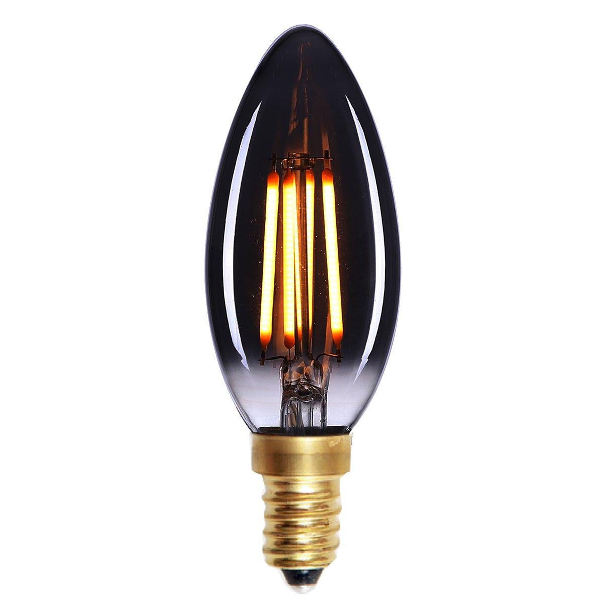 Kaarslamp LED Filament 4W Smoke dimbaar E14