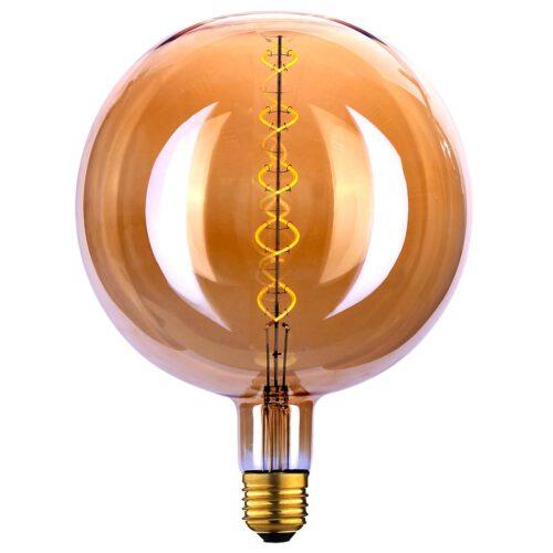 Globe 200 LED 4W Spiral Amber dimbaar E27