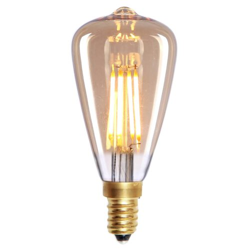 Edison Mini St.48 LED  4W Filament Amber dimbaar E14