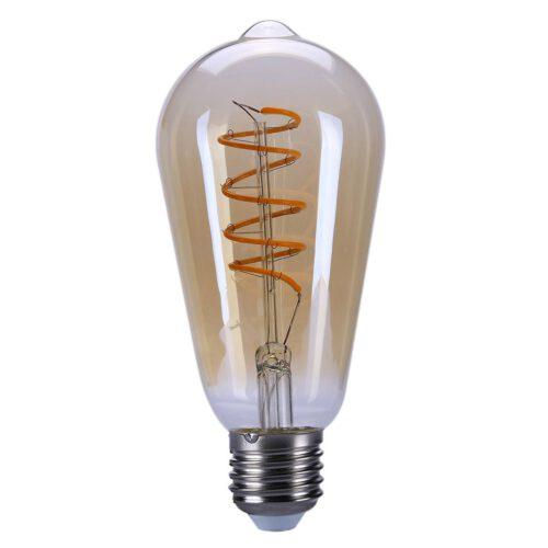 Edison St.64 LED  4W Filament Amber dimbaar E27