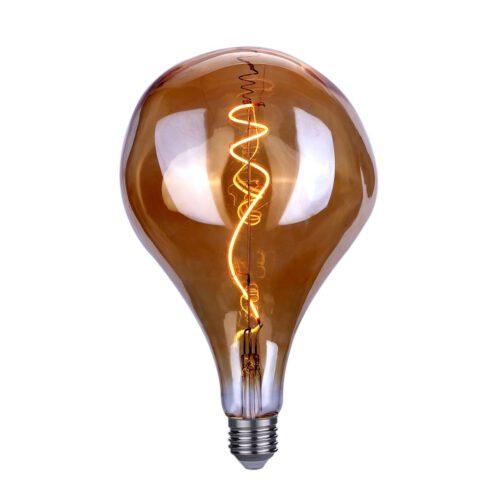 Maxi - deuk BT165 LED 6W Spiral Amber dimbaar E27