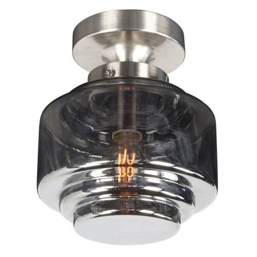 Armatuur met metalen fitting voor Artdeco glas 20 cm
