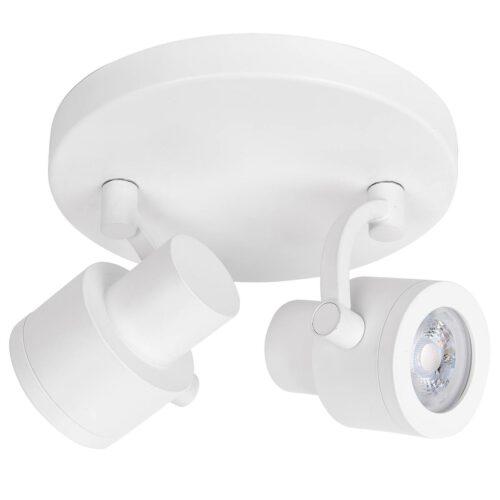Alto Spot 2-lichts GU10 Rond Mat Wit zonder lampen