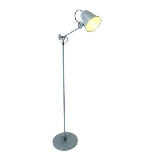 Industriële vloerlamp 1-lichts grijs metaal  ANNE LIGHTING - 1325G - vloerlamp - retro - industrieel - Anne Lighting - Dolphin
