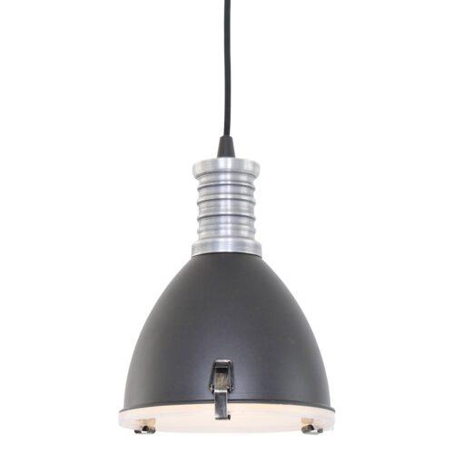 Industriele hanglamp 1-lichts antique STEINHAUER - 1331ZW - Industrielamp - Industriële Hanglamp- Steinhauer- Storm- Industrieel - Stoer- Zwart  Zwart met stalen details- Metaal