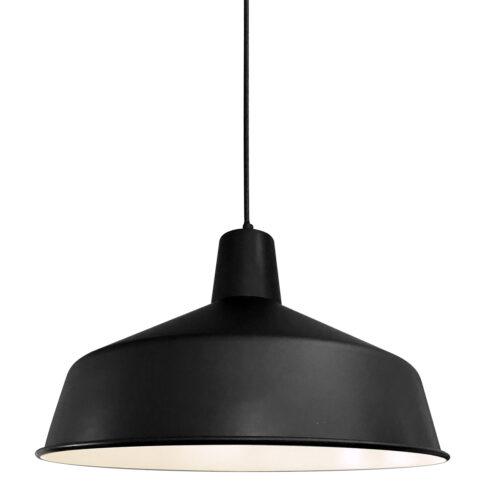 Stoere hanglamp mat zwart