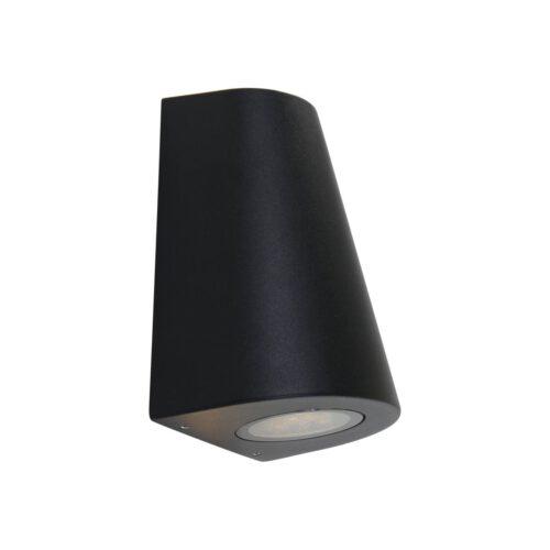 Buitenlamp 2-lichts wand ovaal  GU10 STEINHAUER - 1498ZW - Tuinverlichting - Buitverlichting- Steinhauer- Logan- Modern- Zwart  - Aluminium