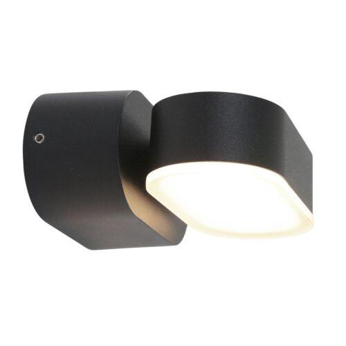 Buitenlamp 1-lichtswand LED 6w STEINHAUER - 1499ZW - Tuinverlichting - Buitverlichting- Steinhauer- Jade- Modern- Zwart  - Aluminium