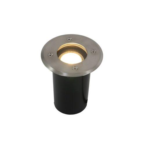 Buitenlamp1-lichts inbouwgrondspot rond GU10 STEINHAUER - 1503ST - Tuinverlichting - Buitverlichting- Steinhauer- Nova- Modern- Staal  - RVS