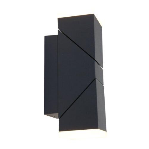 Buitenlamp 2-lichts wand LED rechth2x6-5w STEINHAUER - 1507ZW - Tuinverlichting - Buitverlichting- Steinhauer- Diversen- Diversen- Zwart  -