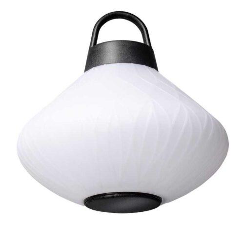 Hanglamp en buitenlamp curved met speaker  -modern -1-lichts -Joey -wit - IP44 - ETH -Expo Trading Holland
