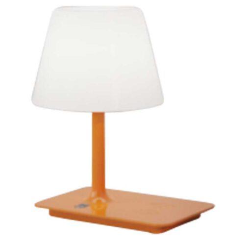 Moderne tafellamp en buitenlamp met draadloze oplader -1-lichts -oranje -Indy - ETH -Expo Trading Holland