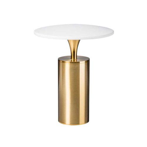 Retro tafellamp -1-lichts -Jazz -messing en wit - ETH -Expo Trading Holland