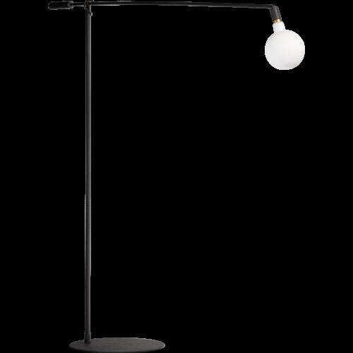 Moderne vloerlamp -Mike -1-lichts -hoogte 104 cm -zwart - ETH -Expo Trading Holland