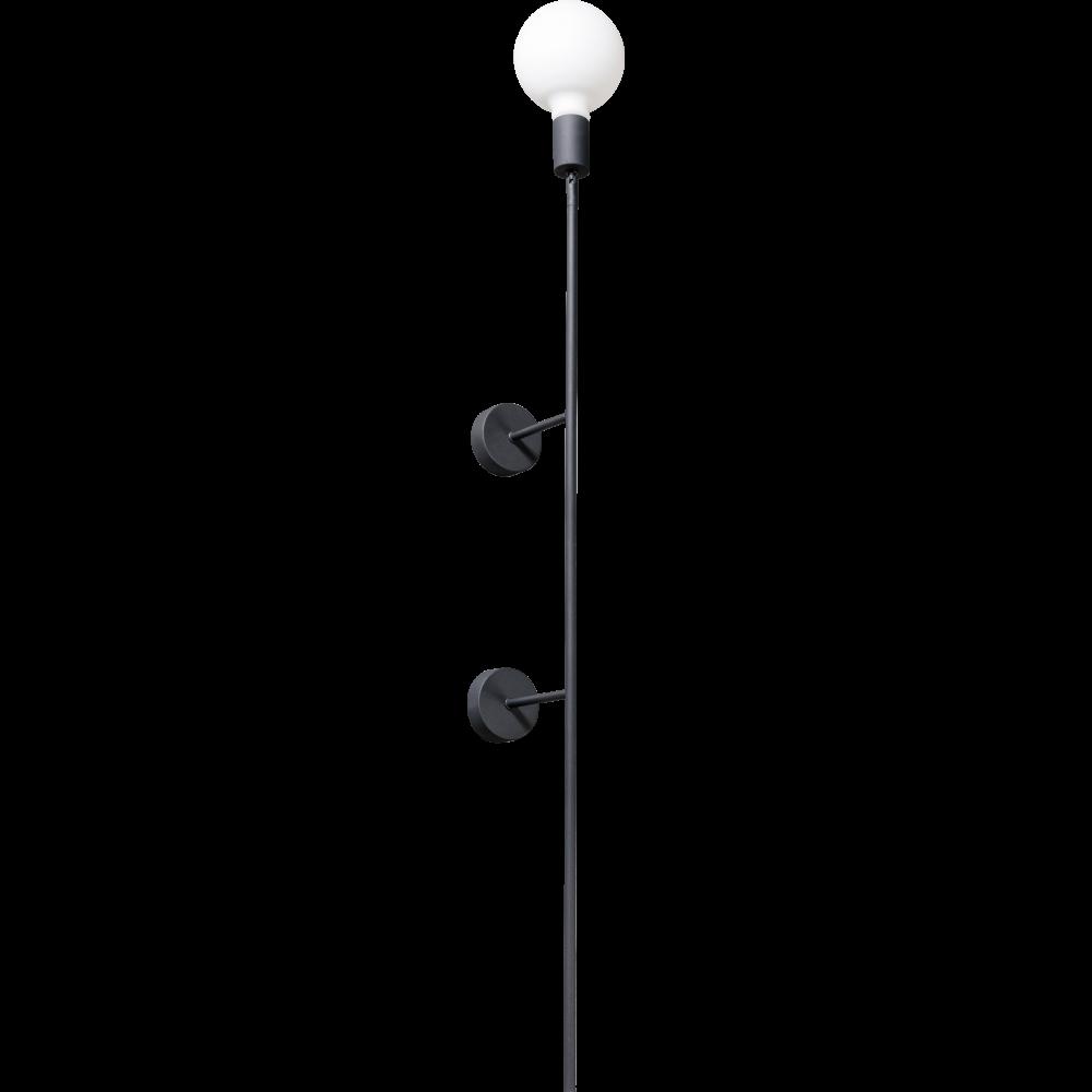 Moderne wandlamp -Mike -1-lichts -hoogte 200 cm -zwart - ETH -Expo Trading Holland