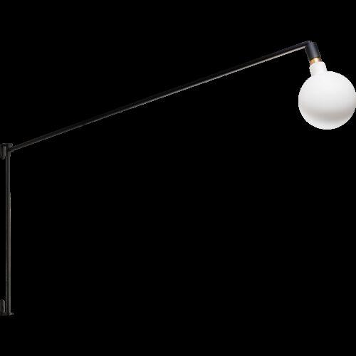Moderne wandlamp -Mike -1-lichts -hoogte 90 cm -zwart - ETH -Expo Trading Holland