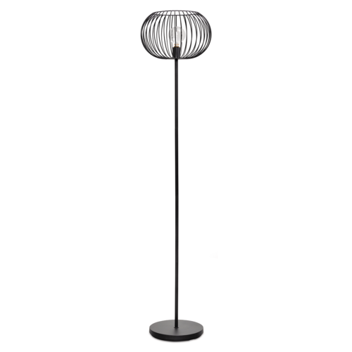 Vloerlamp Wire 2.0 - zwart - 1-lichts - Expo Trading Holland