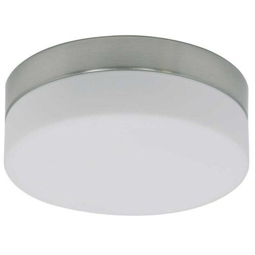 Badkamer plafonnier (zone 2 en 3) - Plafondlamp - Buitenlamp (spatwaterdicht) - plafonnier - 1-lichts. Glas LED 18cm (6119st) STEINHAUER