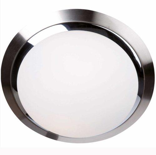 Badkamer plafonnier (zone 2 en 3) - Plafondlamp - Buitenlamp (spatwaterdicht) - plafonnier - 2-lichts glas LED 31cm (6756st) STEINHAUER