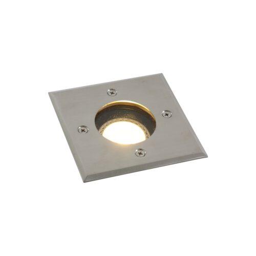 Buitenlamp1-lichts inbouw grondspot 4-k GU10 STEINHAUER - 1504ST - Tuinverlichting - Buitverlichting- Steinhauer- Diversen- Diversen- Staal  -