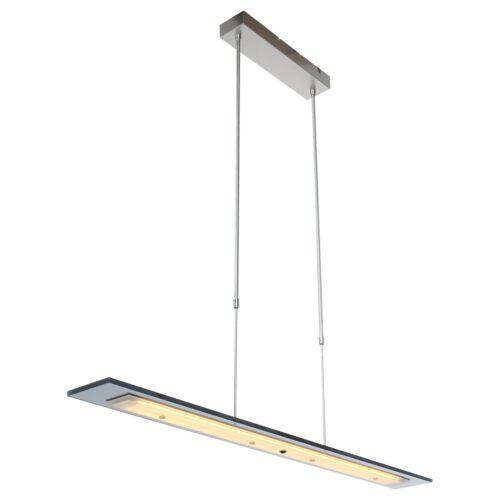 Hanglamp 100cm grijs glas - staal en grijs - Plato LED - Steinhauer