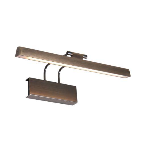 Schilderijverlichting - wandlamp schilderij LED 32cm - brons en wit - Litho LED - Steinhauer