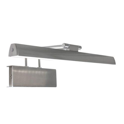 Schilderijverlichting - wandlamp schilderij LED 32cm - staal en wit - Litho LED - Steinhauer